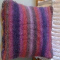 Back of pillow- just ss stitch
