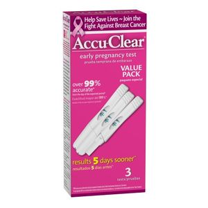Accuclear Early Pregnancy Test, 3-Count (Pack of 2)