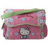 Hello Kitty Diaper Bag with Flap Closure - Patchwork Design, Pink