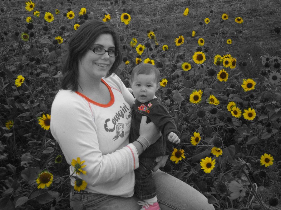 Last years picture in the flowers