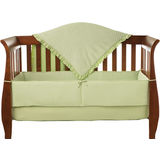 ABC 3 Piece Heavenly Soft Mini Crib Set - Celery