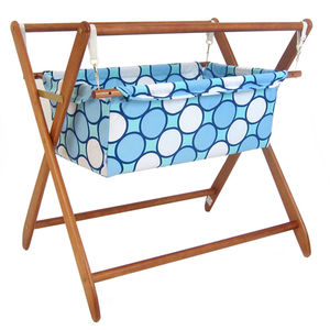 Baby Star Cariboo Gentle Motions Bassinet Insert - Tag Blue