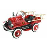 Dexton Llc Deluxe Deluxe Fire Truck Pedal Car Red