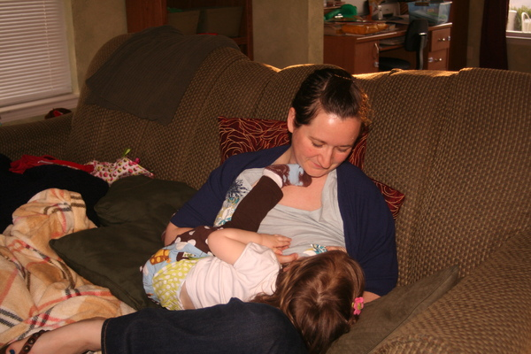 Christine (my third baby) nursing at 23mos... weaned herself just a few short weeks later.