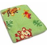 Rainforest Jungle Stripe Coral Fleece Blanket