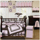 JoJo Designs Pink Hotel 9 Piece Crib Set
