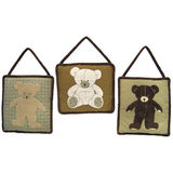 Teddy Bear 3pc Wall Hanging