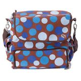 WhodaThought Mrs. Smith's Tempo Diaper Bag, Blue Polka Dot