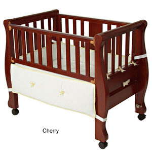 Arm's Reach Sleigh Bed Co-Sleeper - Cherry
