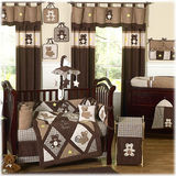 JoJo Designs Chocolate Teddy Bear 9 Piece Crib Set