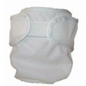 Prorap Classic Diaper Covers - White - Newborn