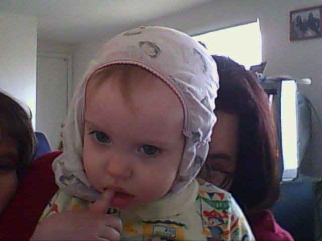 lily-anna enjoys putting on underwear as hats sometimes..lol