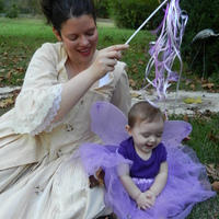 Willow Rose the fairy of the forest and her mommy Queen of the Fairies at a costume party