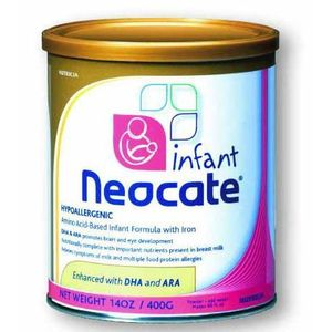 Neocate Infant Formula Powder with DHA and ARA for Infant Develop - 14 Oz / Pack 4 / Case (4 X 400GMS)