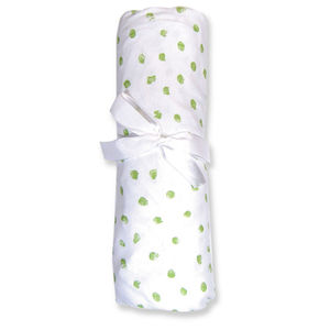Trend Lab Cotton Jersey Dot Crib Sheet - Sage Dots