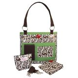 2 Red Hens Whole Roost Latte Swirl Diaper Bag