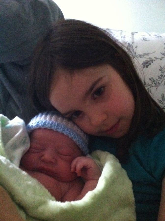Eli with his big sister