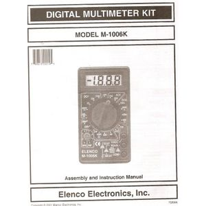 Elenco - Digital Mulitmeter Kit