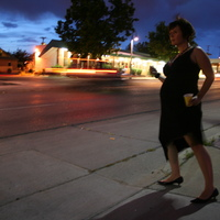 My very talented friend took this picture of me on Route 66 in Albuquerque when I was 5 months pregnant with my son, Shane.