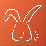 Animal Wall Decor - Orange - Bunny