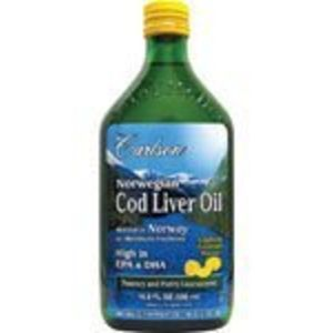 Carlson Labs Norwegian Natural Vitamin E Cod Liver Oil, Lemon, 500ml
