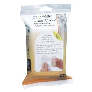 Quick Clean Breastpump and Accessory Wipes 24 Pack