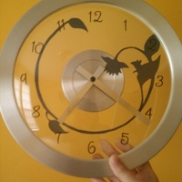 clock I altered for the baby's room.