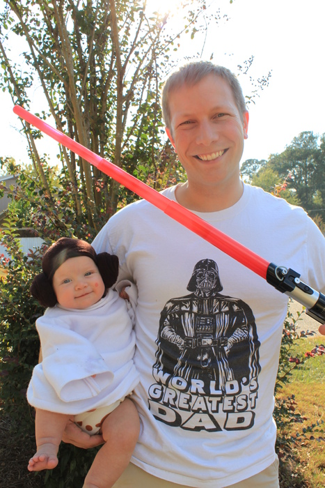 Princess Leia Baby And Darth Daddy