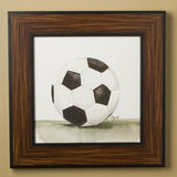 Mac's Play Ball Series Print Framed - Soccer Ball