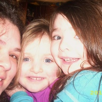 Me and my two daughters, April 2010.