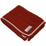 Cable Knit Blankets - Red