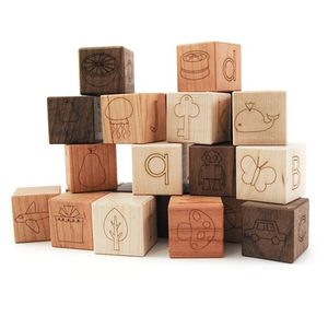 Image of: Wooden Picture Alphabet Blocks