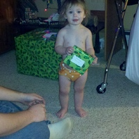 Christmas morn in cloth diapers!