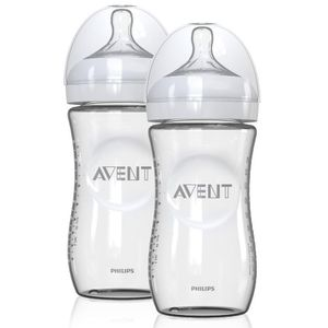 Philips AVENT 8 Ounce Natural Glass Bottles