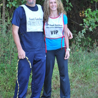 hubby and me at a cross country meet