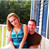 My hubby & me on our front porch<3