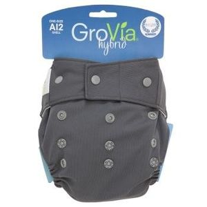 GroVia Hybrid Snap Shell Diaper, Cloud, One Size