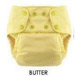Blueberry One Size Deluxe Pocket Diapers - Snaps - Butter Yellow