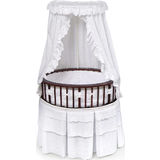 Elite Oval Bassinet - Cherry w/ White Eyelet