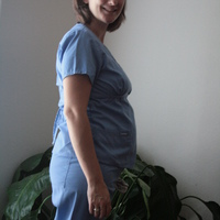 22 weeks - and the scrub top adds a little dimension, lol