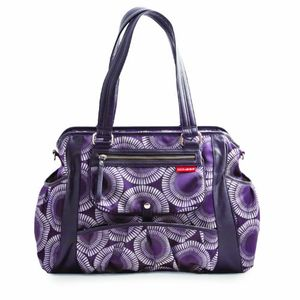 Skip Hop Studio Diaper Tote Bag, Plum Burst