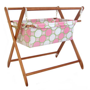 Baby Star Cariboo Gentle Motions Bassinet Insert - Tag Pink