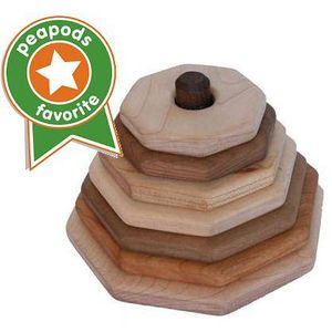 Image of: Wooden Octagon Stacker Toy