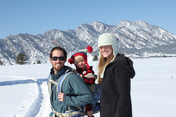 Snowshoeing just a few days before we found out we're expecting #2 :)