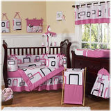 JoJo Designs Geo Pink 9 Piece Crib Set