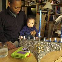 Baby Z's first Chanukah