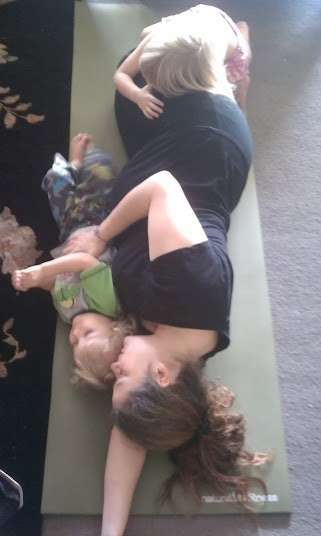 yoga with kids isn't always the yoga you expect... especially when you are expecting!