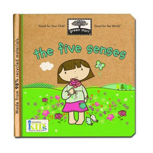 Green Start Recycled Board Book - The 5 Senses