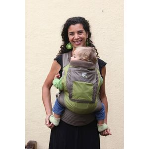 Onya Baby The Outback Baby Carrier - Olive Green / Chocolate Chip