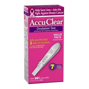 Accu-Clear Ovulation Test, Box of 7 Tests